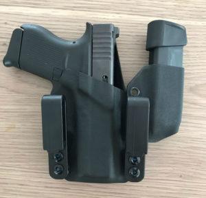 Glock 43 IWB Dual Clip Mag Kydex Holster
